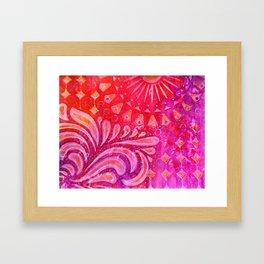 Joy in Orange and Purple Framed Art Print