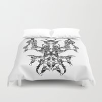namaste Duvet Covers featuring namaste by kumpast