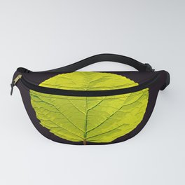 Green Leaf On A Black Background #society6 #decor #buyart Fanny Pack
