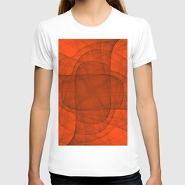 Fractal Eternal Rounded Cross in Red T-shirt