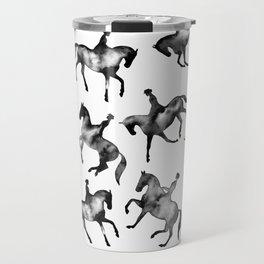 Dressage Horse Silhouettes Travel Mug