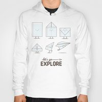 transformer Hoodies featuring Let's go explore by I Love Doodle