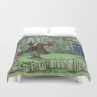 hallion Duvet Covers featuring Visions are Seldom all They Seem by Karen Hallion Illustrations