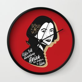We Tell Stories - Joan Didion - Red Wall Clock