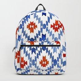 blue rhombus balinese ikat Backpack