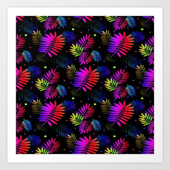 Splashy Tropics Art Print