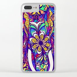 Not a circus elephant #violet by #Bizzartino Clear iPhone Case