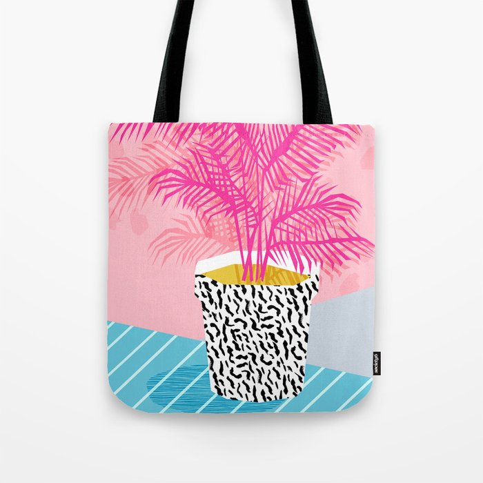 No Can Do - hipster abstract neon 1980s style memphis print palm springs socal los angeles desert Tote Bag