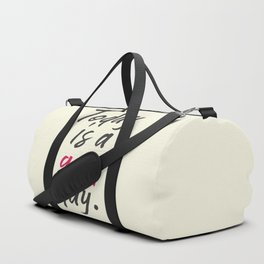 Today is a good day, positive vibes, thinking, happy life, smile, enjoy, sun, happiness, joy, free Duffle Bag