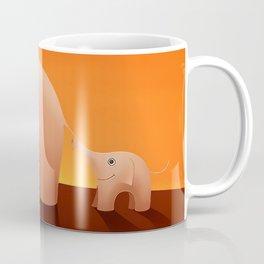 Elephants - Cartoon Coffee Mug