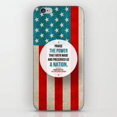 Preserved us a Nation iPhone Skin