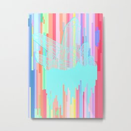 Crystal 2: Glitched Metal Print