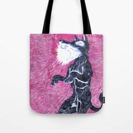 Black Dog Rampage Tote Bag