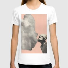Exhalation SMALL White Womens Fitted Tee
