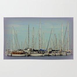 Flotilla of Yachts  Rug