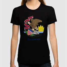 Illinois State Flag, authentic color & scale T-shirt
