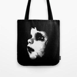 Creepy Doll Face Tote Bag