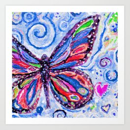 Butterfly Painting Art Print