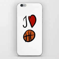 I love basketball  iPhone & iPod Skin