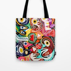 Life is beautiful street art graffiti Tote Bag