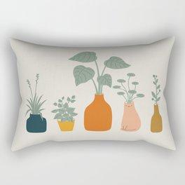 Cat and Plant 9 Rectangular Pillow