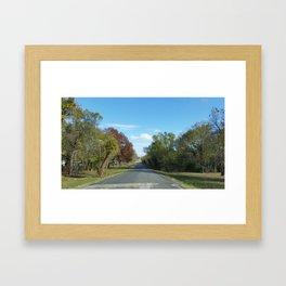 A Peaceful Drive  Framed Art Print