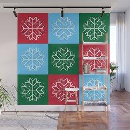 Snowflake 3x3 Wall Mural