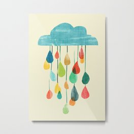 cloudy with a chance of rainbow Metal Print