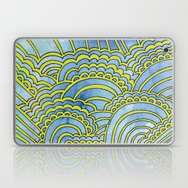Water & Color Drawing Meditation - Lime Laptop & iPad Skin