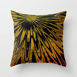 Native Tapestry in Gold Throw Pillow