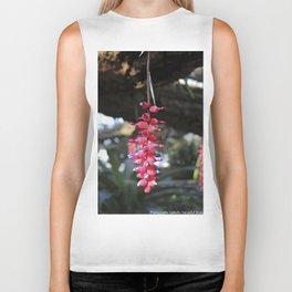 red exotic flower Biker Tank