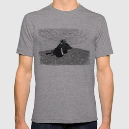 Bat man and dog T-shirt