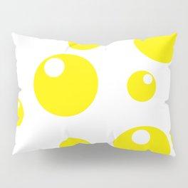 Soda Bubbles - Yellow Pillow Sham