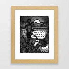 devil on your back Framed Art Print
