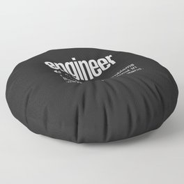 Funny Engineer Definition Floor Pillow