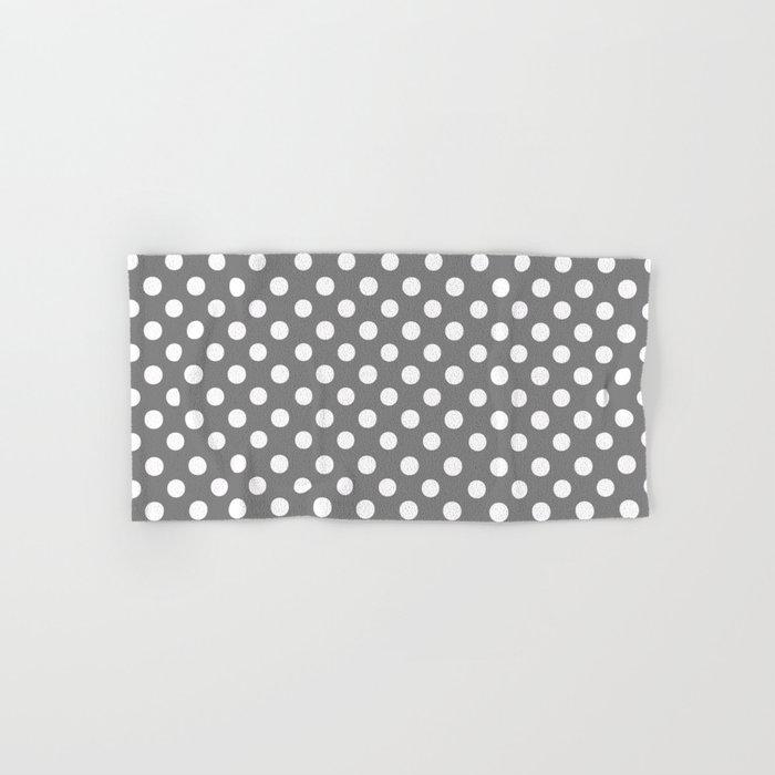 Polka Dots (White/Gray) Hand & Bath Towel
