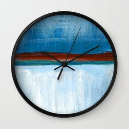 March Abstract Six Wall Clock