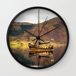 Sailboat Reflections Wall Clock
