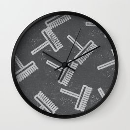 Broom Wall Clock