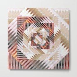 Square Recursion Metal Print