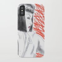 mia wallace iPhone & iPod Cases featuring Mia Wallace by Natália Damião