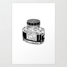 Ink Art Print