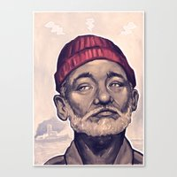 zissou Canvas Prints featuring Zissou by Dale C Bowers