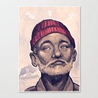 zissou Canvas Prints featuring Zissou by DC Bowers