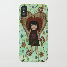 Broken girl iPhone X Slim Case