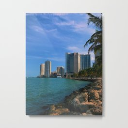 Brickell and Biscayne Bay Metal Print