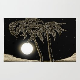 Full moon night Rug