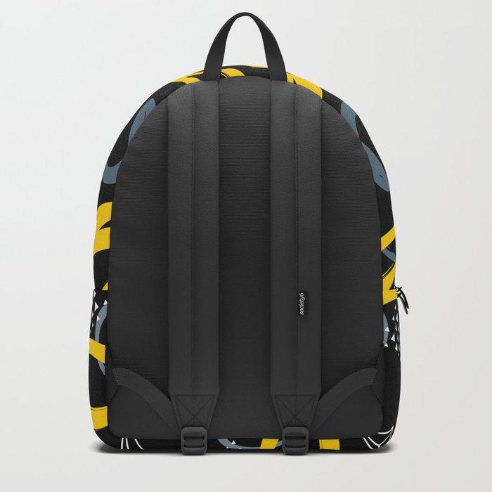 black & yellow Backpack