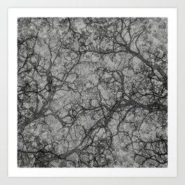 Silver Gray Hunting Camo Pattern Art Print
