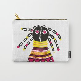 African doll in pink Carry-All Pouch